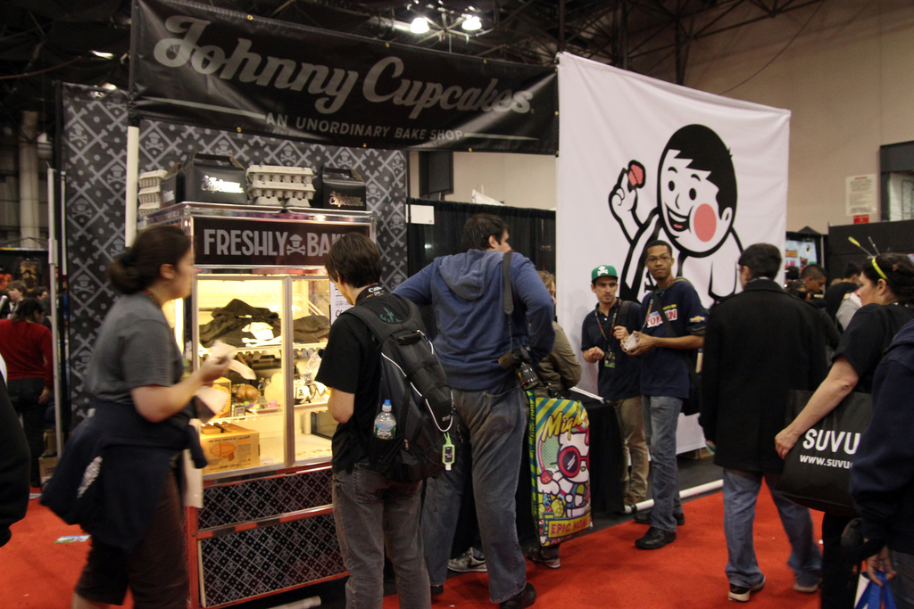 Johnny Cupcakes trade show display