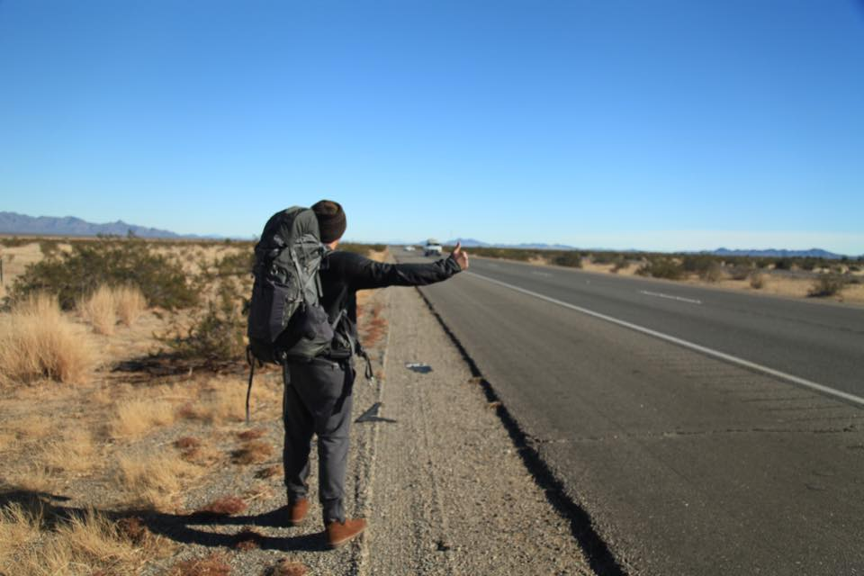 woncho hitchhiking across america using tech