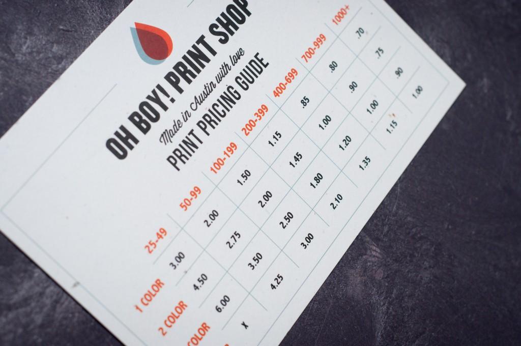 oh boy print shop- price sheet
